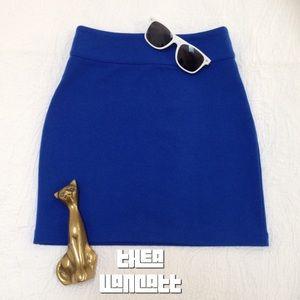 SILENCE + NOISE - Superhero Blue Zip Up Mini Skirt